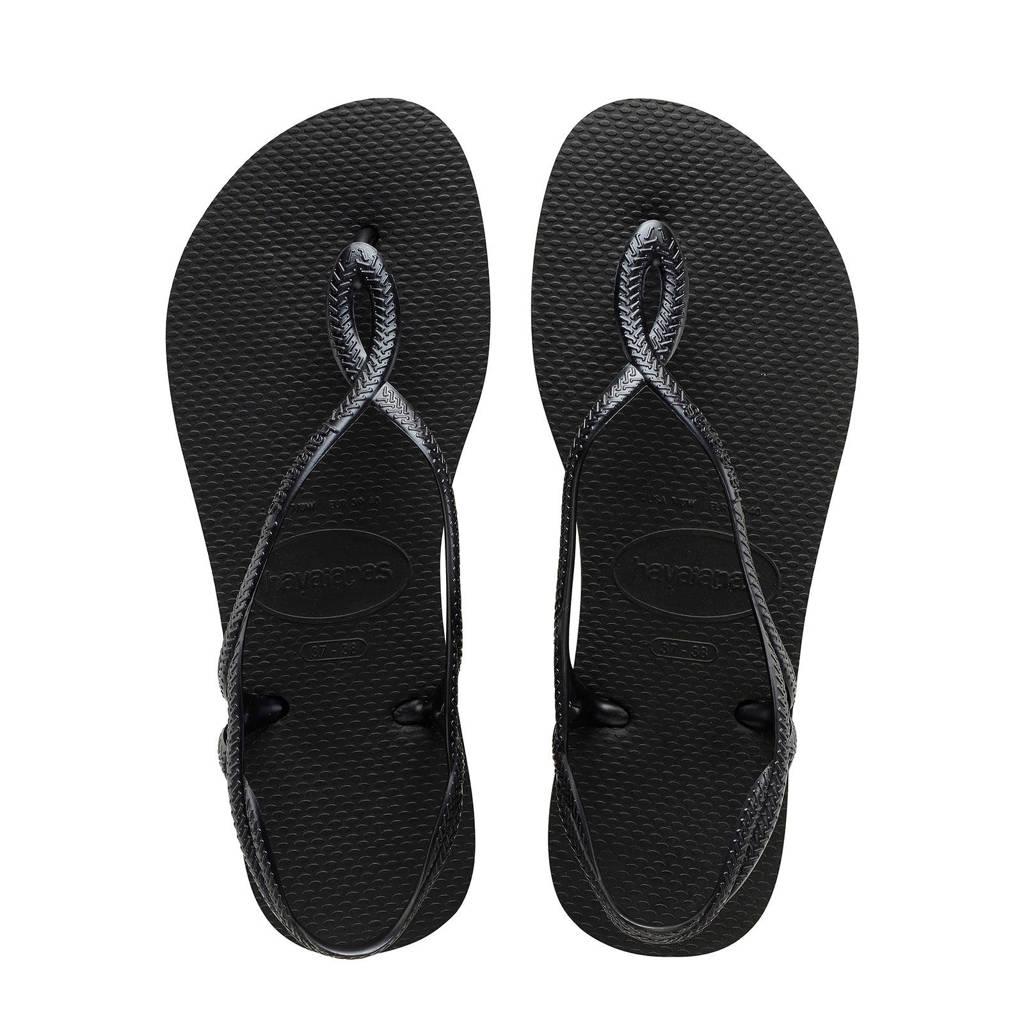 Havaianas Luna sandalen zwart, Zwart