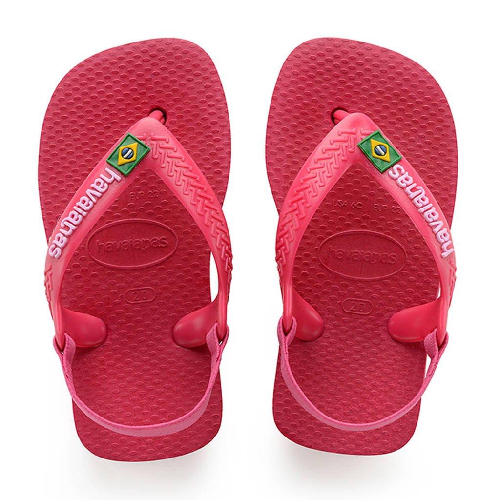 Havaianas Baby Brasil Logo II teenslippers roze, Roze/geel