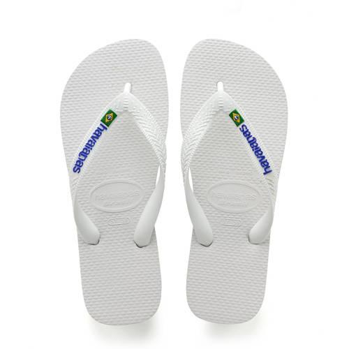 Havaianas Slippers Flipflops Brasil Logo Wit
