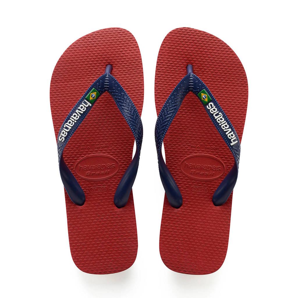 Havaianas Brasil Logo  teenslippers rood/blauw, Rood/blauw