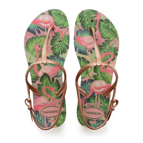 Havaianas Kids Freedom Print sandalen roségoud