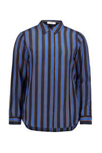 Sissy-Boy gestreepte zijden blouse blauw