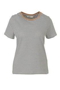 Sissy-Boy gestreept T-shirt met contrastbies marine/wit