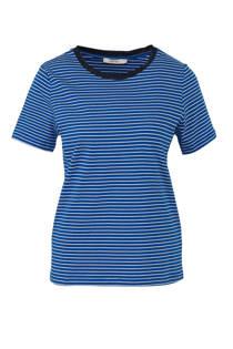 Sissy-Boy gestreept T-shirt met contrastbies koningsblauw