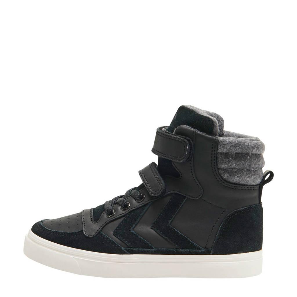 hummel Stadil Winter High  sneakers zwart, Zwart