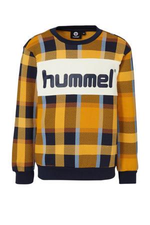 sweater geel/donkerblauw