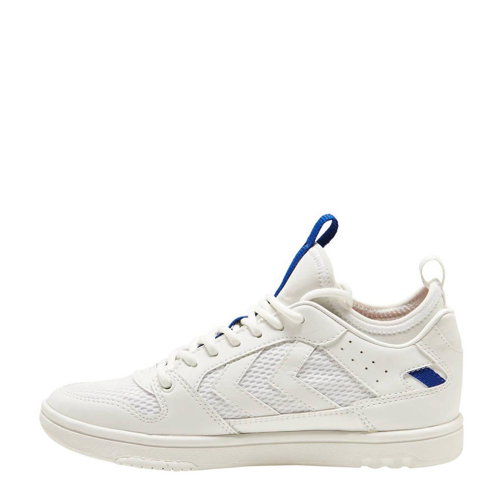 hummel Power Play Sock  sneakers wit/blauw, Wit/blauw