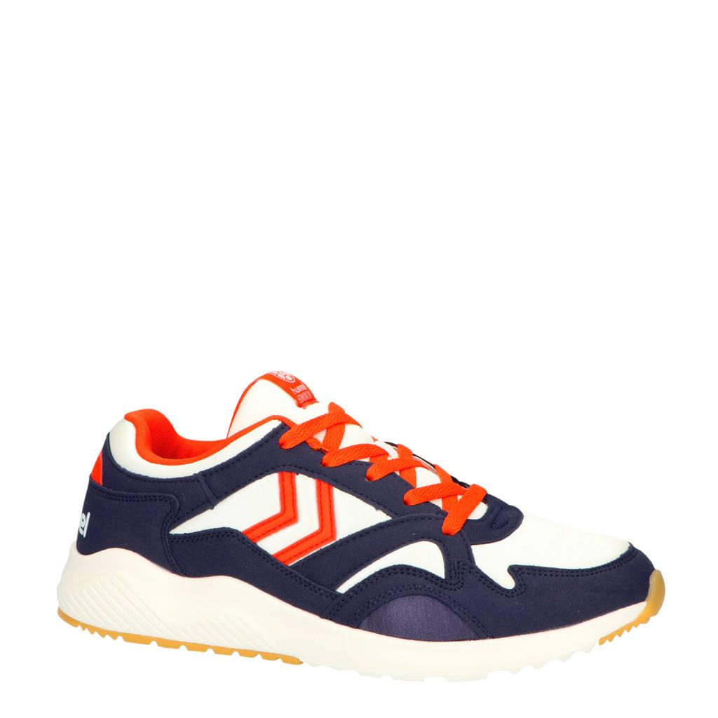 hummel Edmonton  sneakers wit/blauw/rood, Wit/donkerblauw/rood