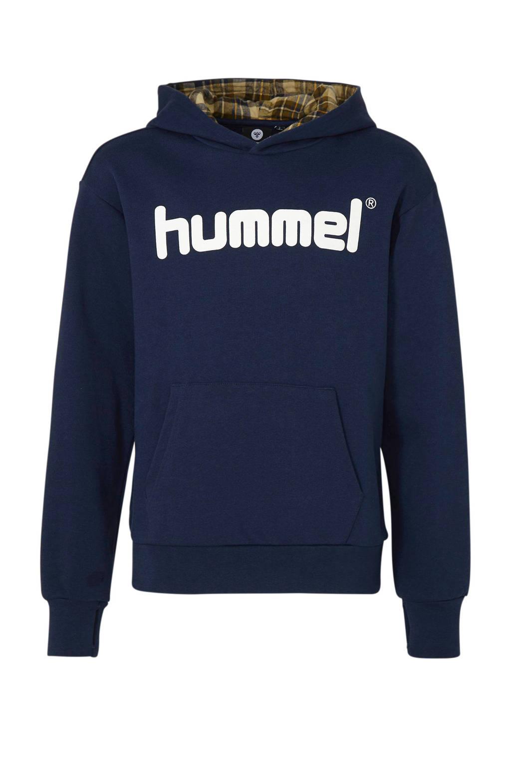 hummel   hoodie donkerblauw, Donkerblauw