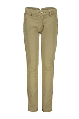 straight fit broek taupe