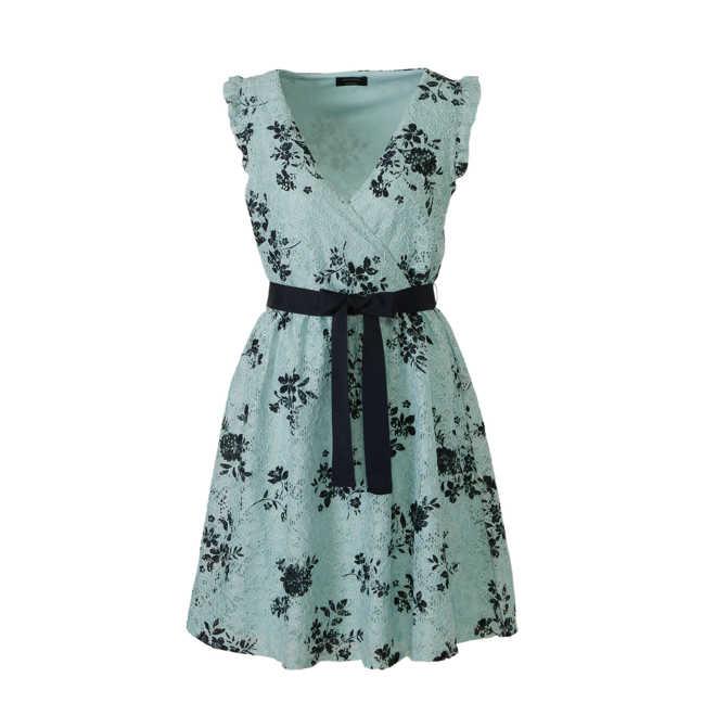 05dbc9384b5a98 C A. Yessica gebloemde kanten jurk mintgroen