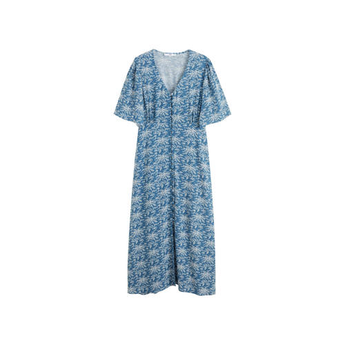 Mango gebloemde jurk blauw