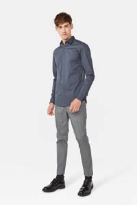 WE Fashion long slim fit overhemd grijs, Grijs