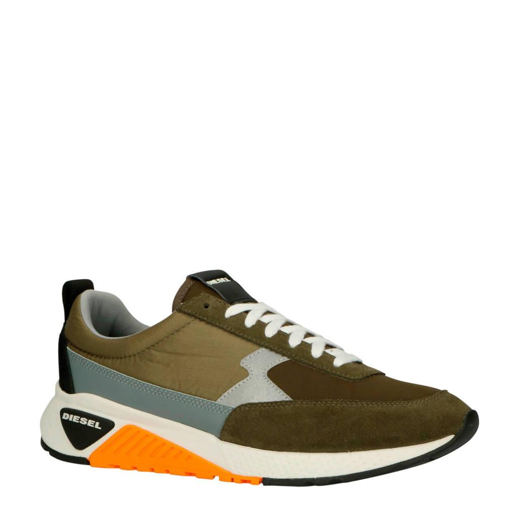 Diesel  S-KB Low Lace II sneakers kaki/oranje