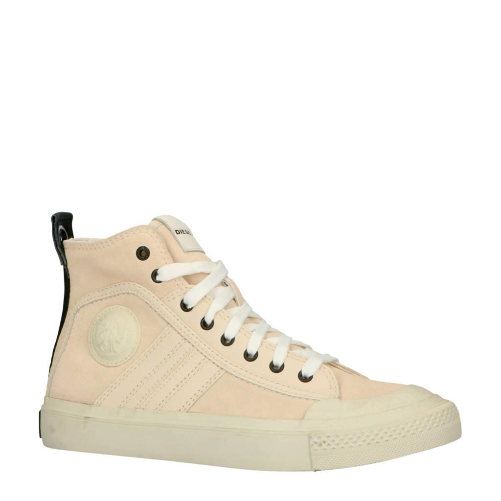 Diesel  S-Astico MC Logo suède sneakers beige, Beige