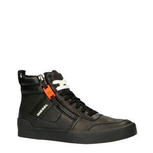 S-DVELOWS leren sneakers zwart