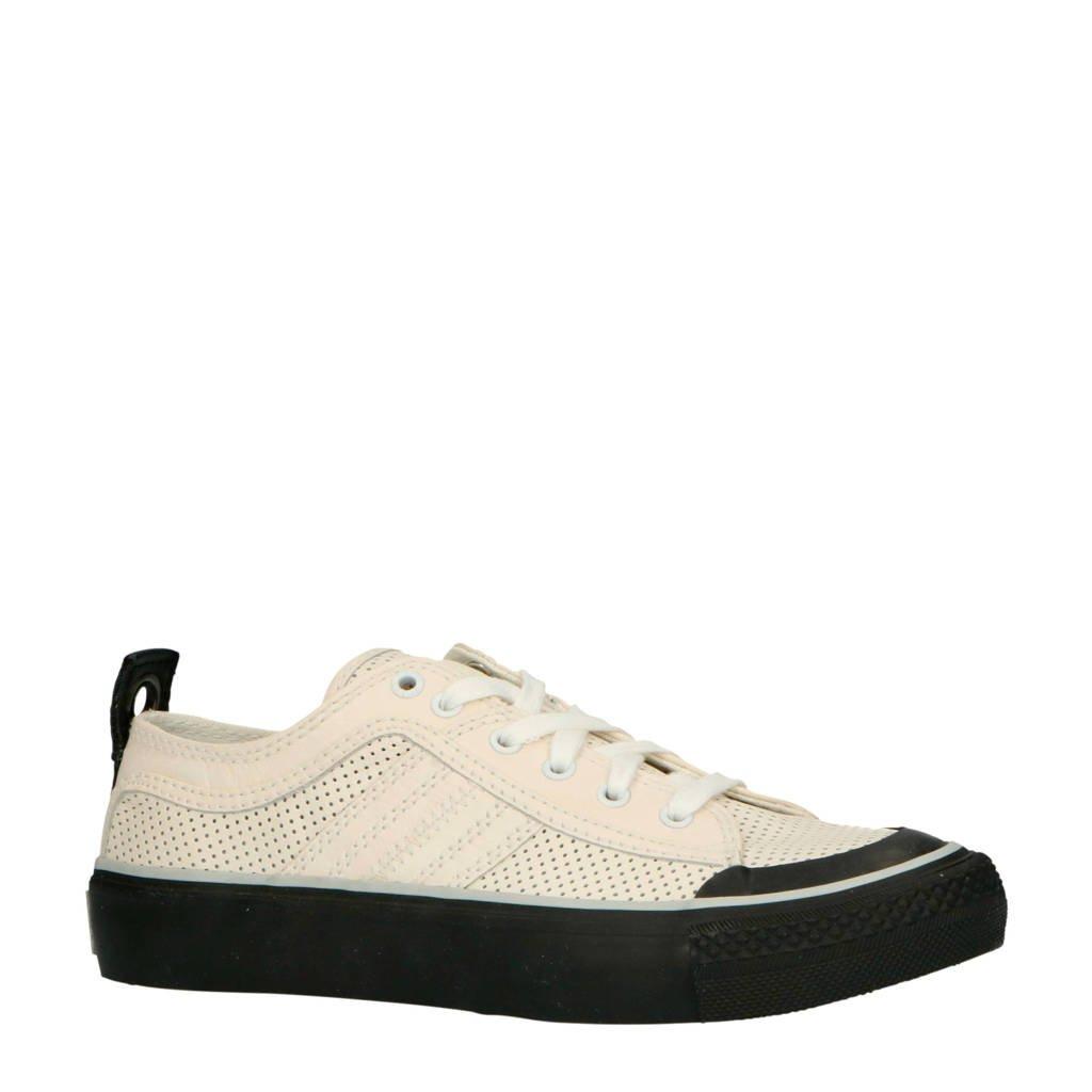 Diesel S-ASTICO LOW LOGO W leren sneakers wit/zwart, Wit/zwart