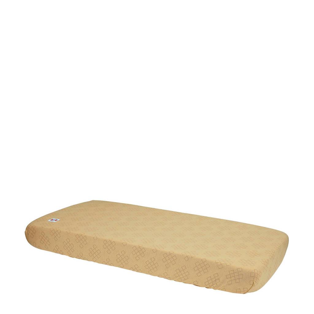 Lodger katoenen katoenen hoeslaken ledikant 70x140 cm okergeel Okergeel