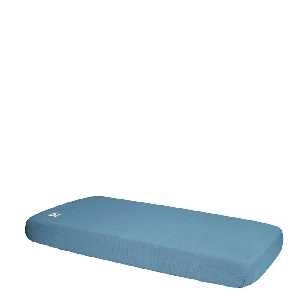 Lodger katoenen katoenen Slumber Solid baby hoeslaken 40 x 80 cm blauw Blauw