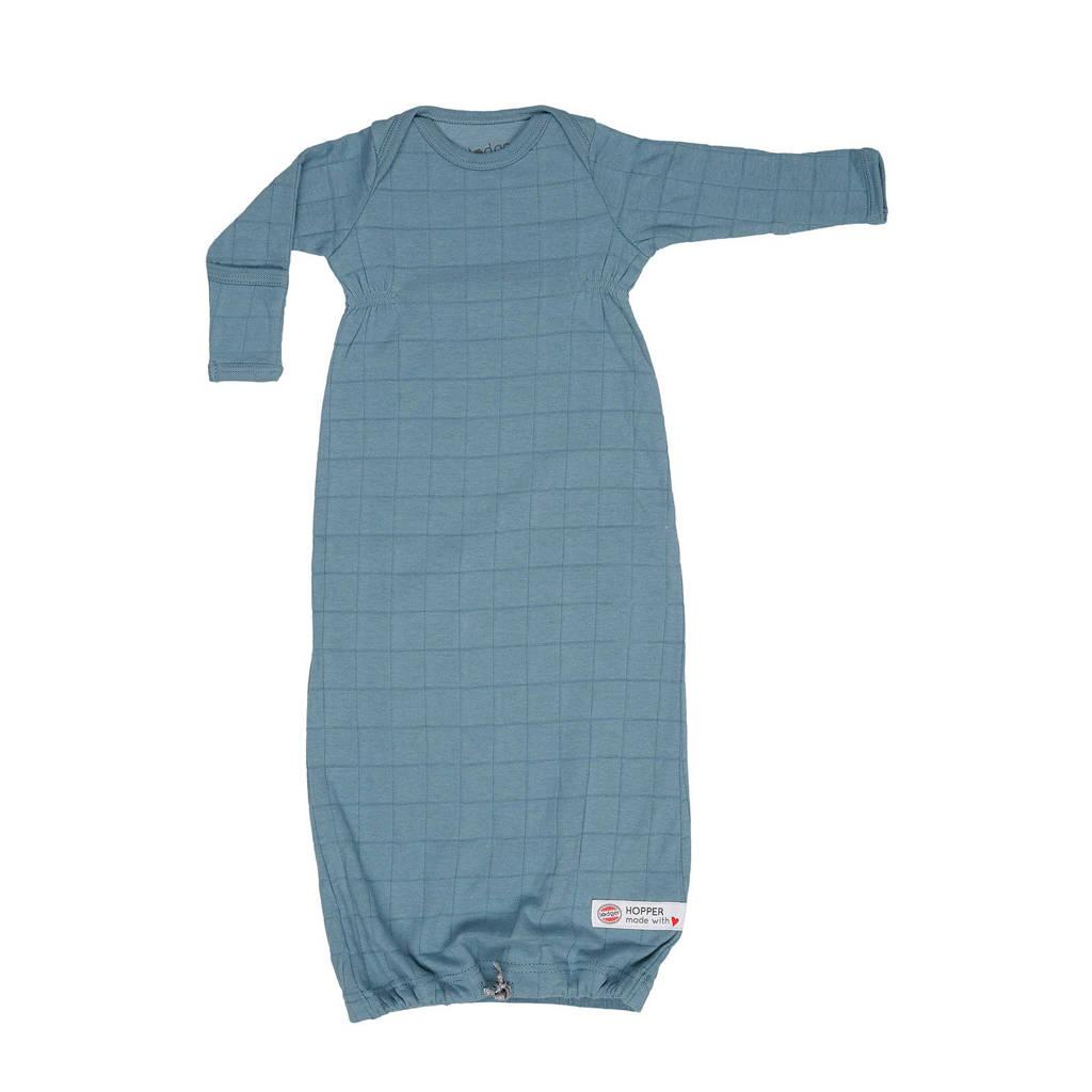 Lodger baby slaapzak zomer Hopper Newborn Solid  0-4 mnd blauw, Blauw