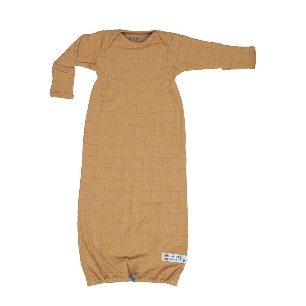 Lodger baby slaapzak zomer Hopper Newborn Solid  0-4 mnd okergeel, Okergeel