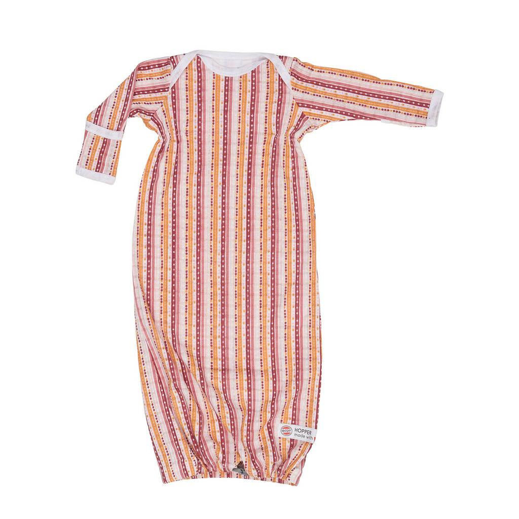 Lodger baby slaapzak zomer Hopper Newborn Xandu 0-4 mnd lichtgrijs, Roze