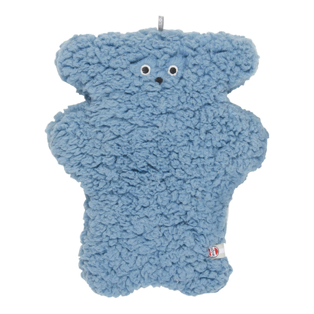 Lodger knuffel Fuzzy Sherpa Scandinavian blauw knuffel 28 cm, Blauw