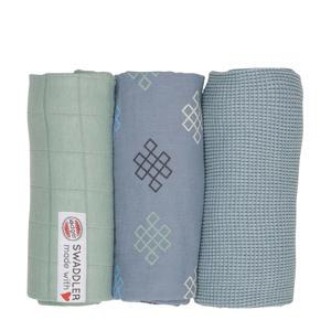 empire knot hydrofiele doeken 70x70 cm blauw (set van 3)