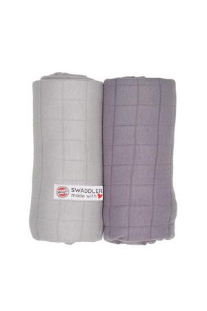 solid hydrofiele doeken 70x70 cm grijs (set van 2)