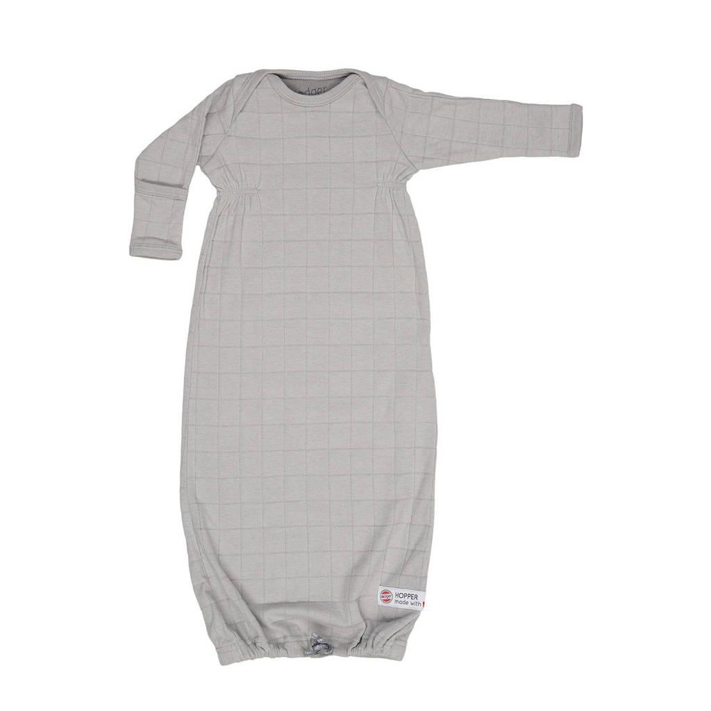 Lodger baby slaapzak zomer Hopper Newborn Solid 0-4 mnd lichtgrijs, Grijs