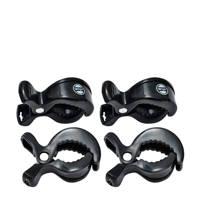 Lodger Swaddle Clips (4 stuks) zwart, Zwart