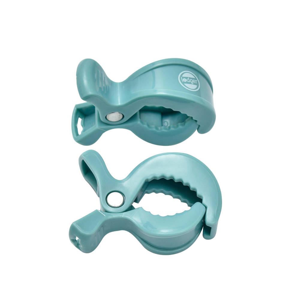 Lodger Swaddle clip blauw - set van 2, Blauw