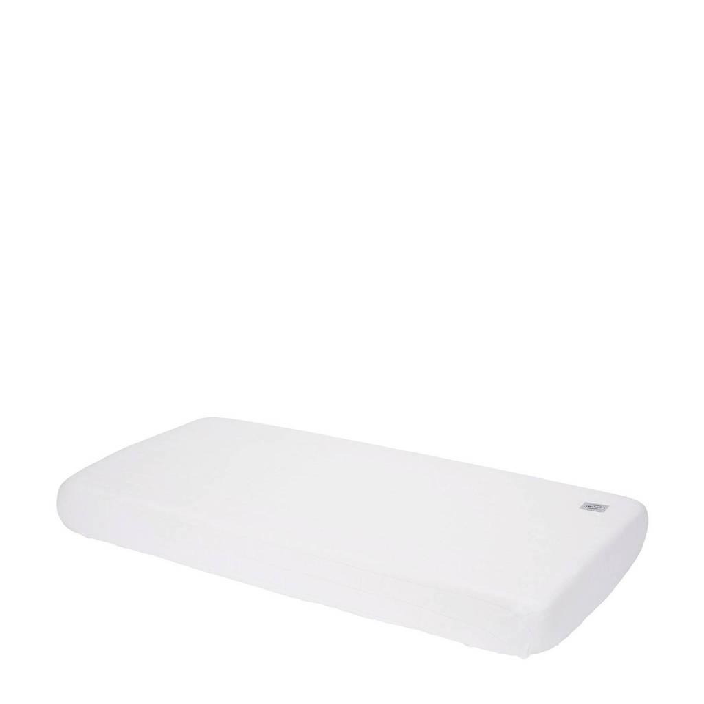 Lodger katoenen katoenen Slumber Solid hoeslaken 40 x 80 cm wit Wit