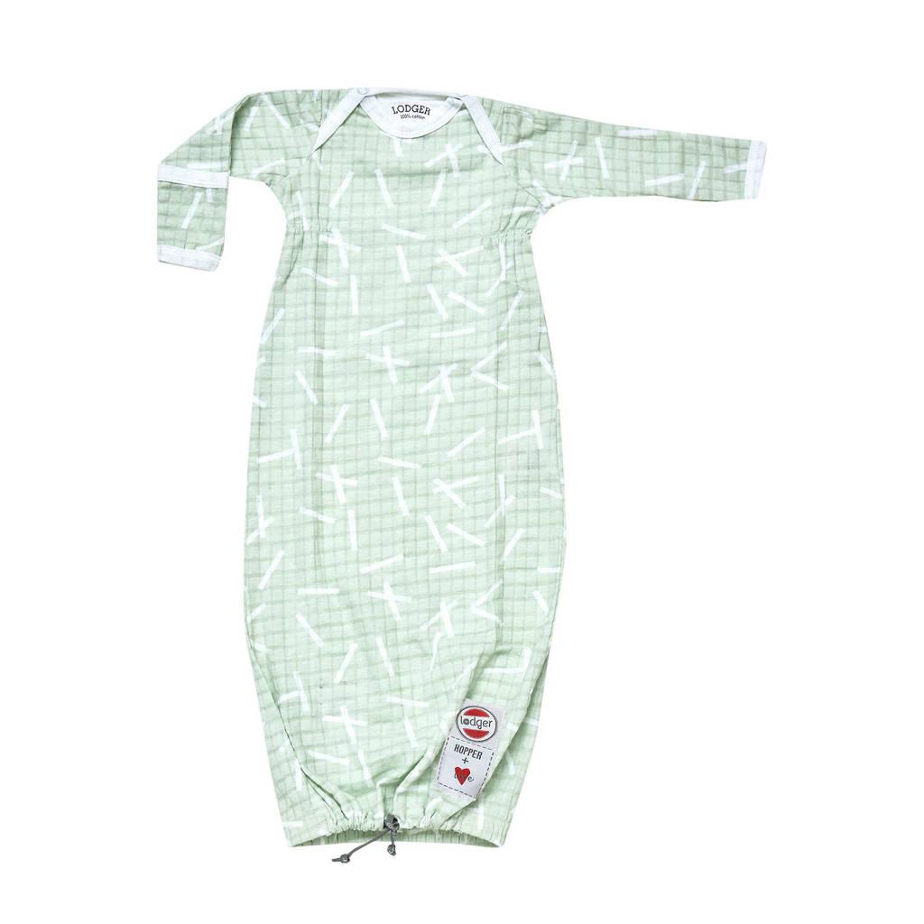 Lodger baby slaapzak Hopper Newborn Sprinkle  0-4 mnd lichtgroen, Lichtgroen