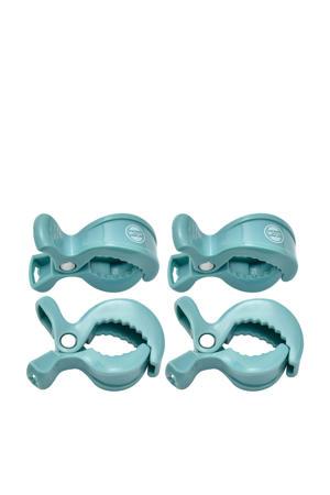 Swaddle Clips (4 stuks) lichtblauw
