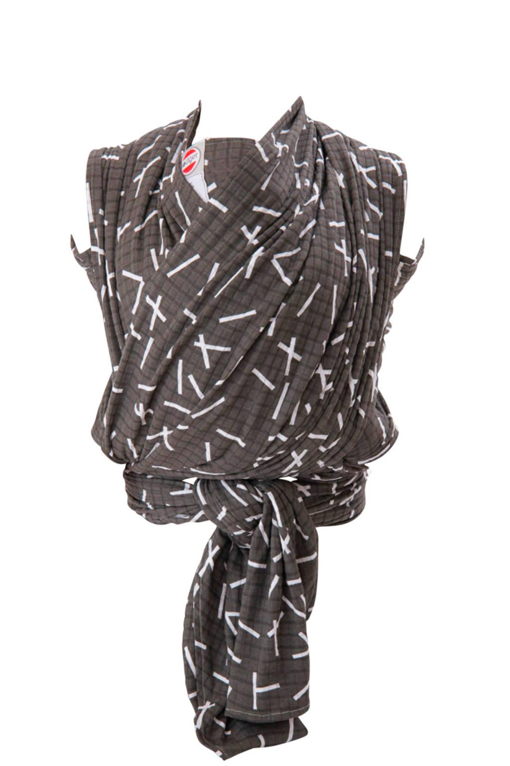Lodger draagdoek Cocooner Botanimal zwart, Zwart