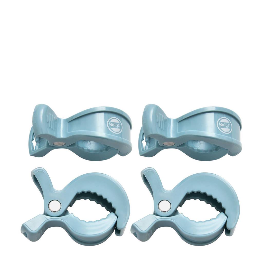 Lodger Swaddle Clips (4 stuks) lichtblauw, Lichtblauw