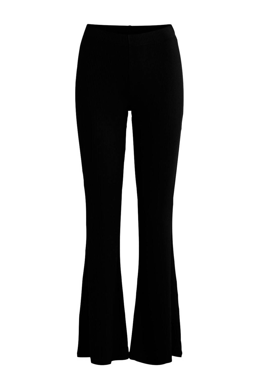 OBJECT flared broek zwart, Zwart