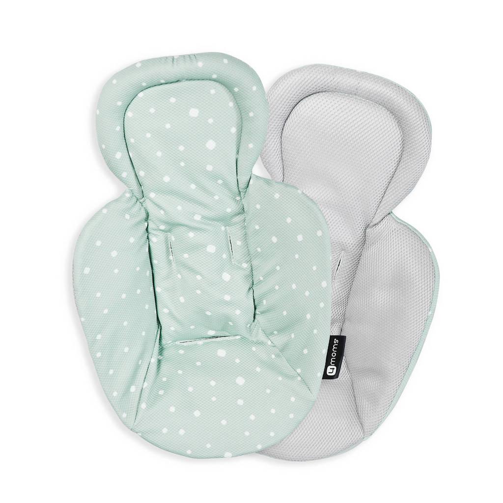 4moms Snug stoelverkleiner newborn cool mesh groen/grijs, Groen/grijs