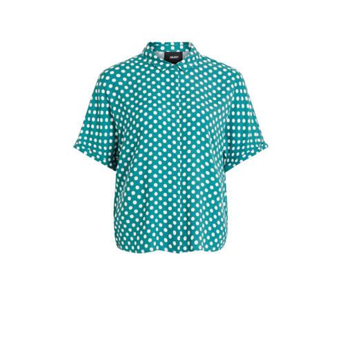 OBJECT blouse met stippen