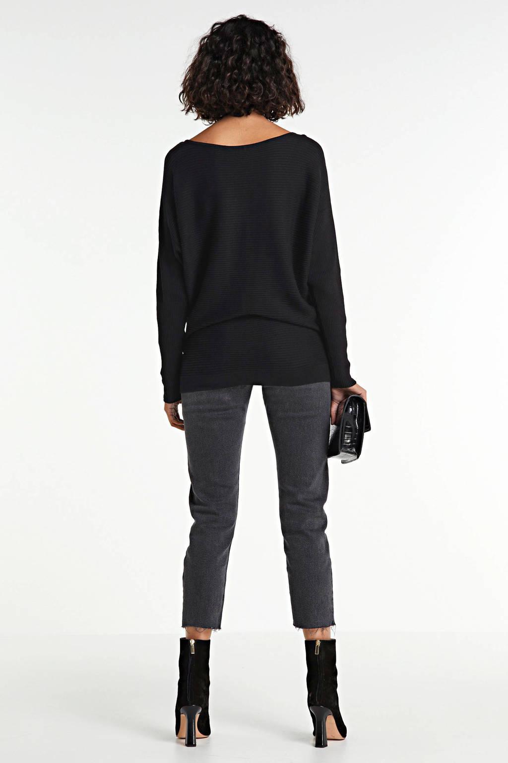 PIECES  crossbody tas met crocoprint zwart, Zwart