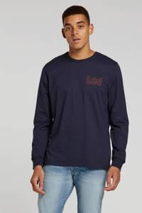 Lee T-shirt met logo marine, Marine