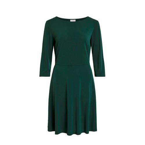 VILA jurk donkergroen
