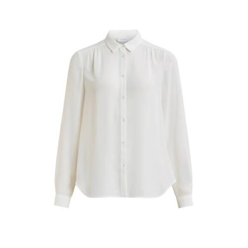 VILA blouse met plooien ecru