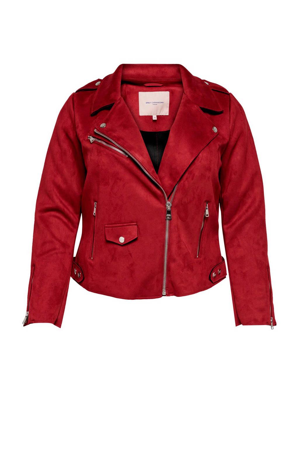 ONLY carmakoma bikerjack rood, Rood