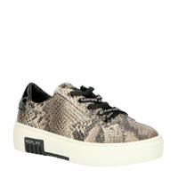 REPLAY JS270001S  plateau sneakers slangenprint beige, Beige