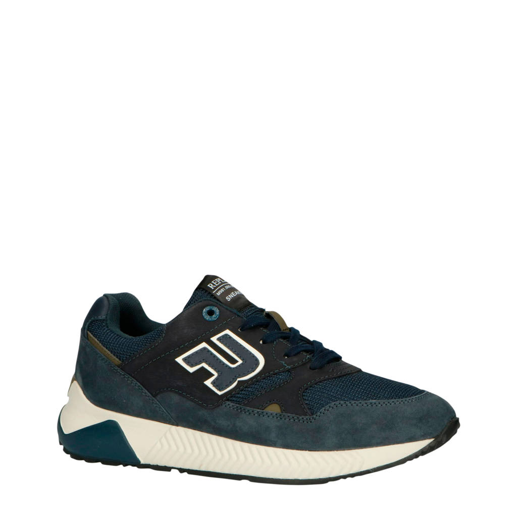 REPLAY RS830006L  suède sneakers donkerblauw, Donkerblauw