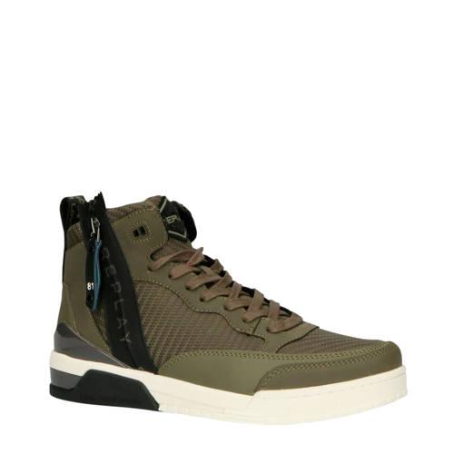 REPLAY RZ1R0002S hoge sneakers donkergroen
