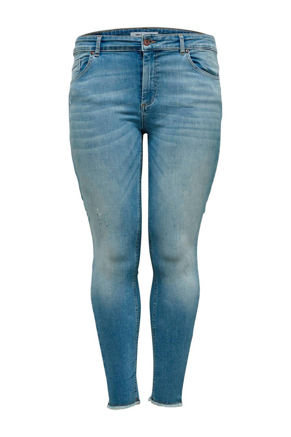 ONLY carmakoma skinny jeans, Lichtblauw