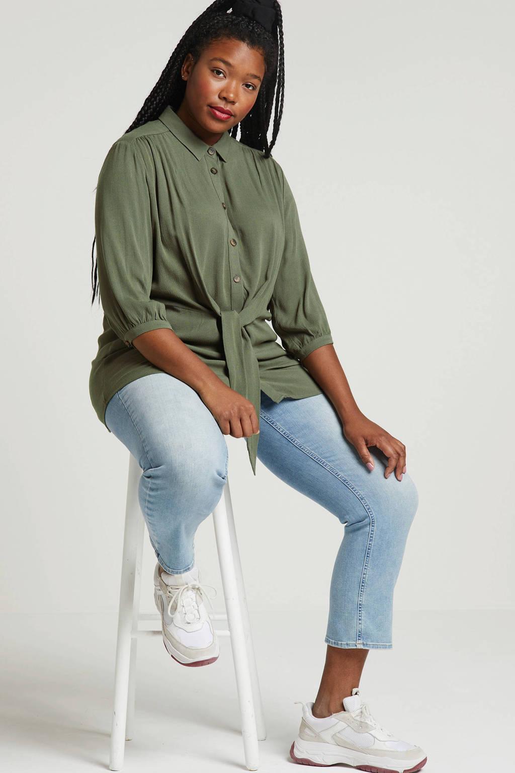 ONLY carmakoma blouse kaki, Kaki